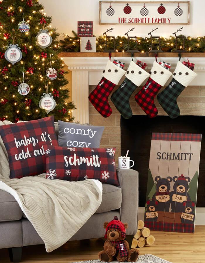 Buffalo Check Plaid Holiday Decorating Ideas