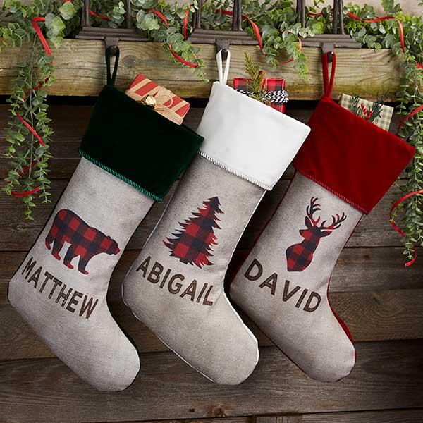 Buffalo Check Christmas Stockings