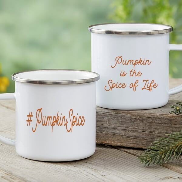 Pumpkin Spice Camping Mugs