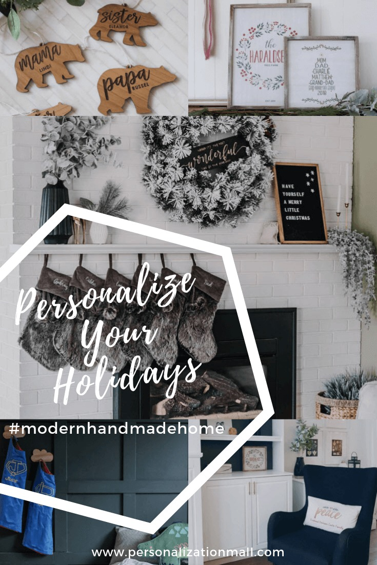 Modern Handmade Home Series - Personalized Holiday Home Decor