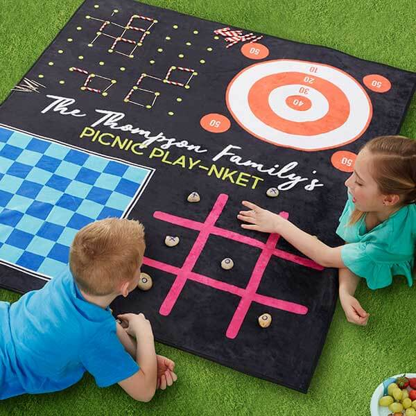 Camping Picnic Blanket with Games