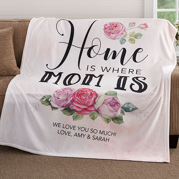 Mother's Day Personalized Floral Blanket