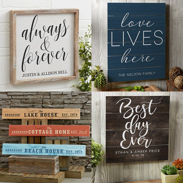 Typographic style designs for wedding and home