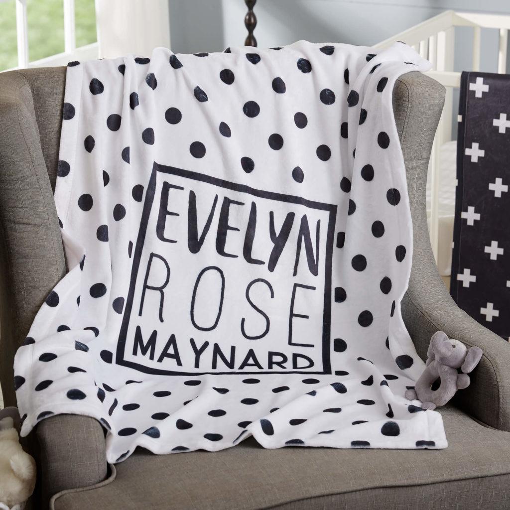 Black & White Nursery Decor - Baby Blanket