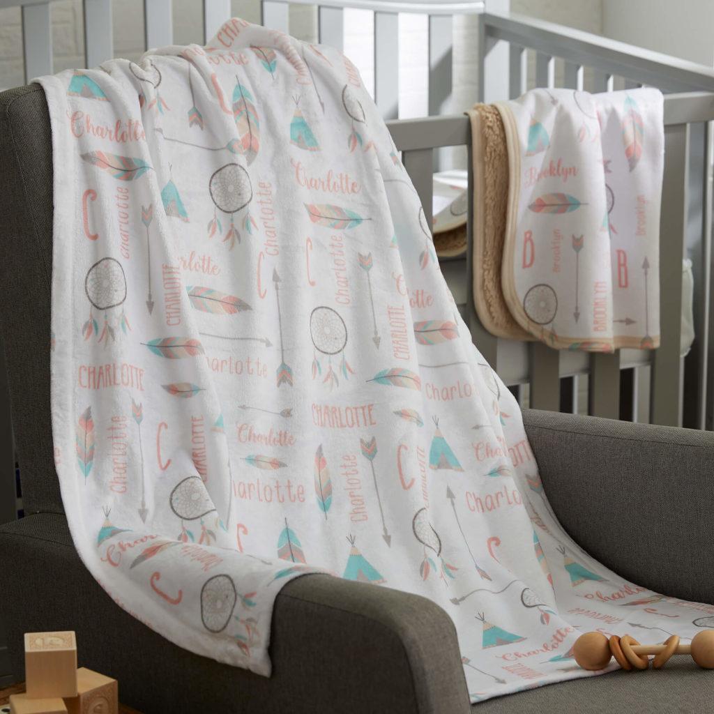 Boho Nursery Decor - Baby Blanket