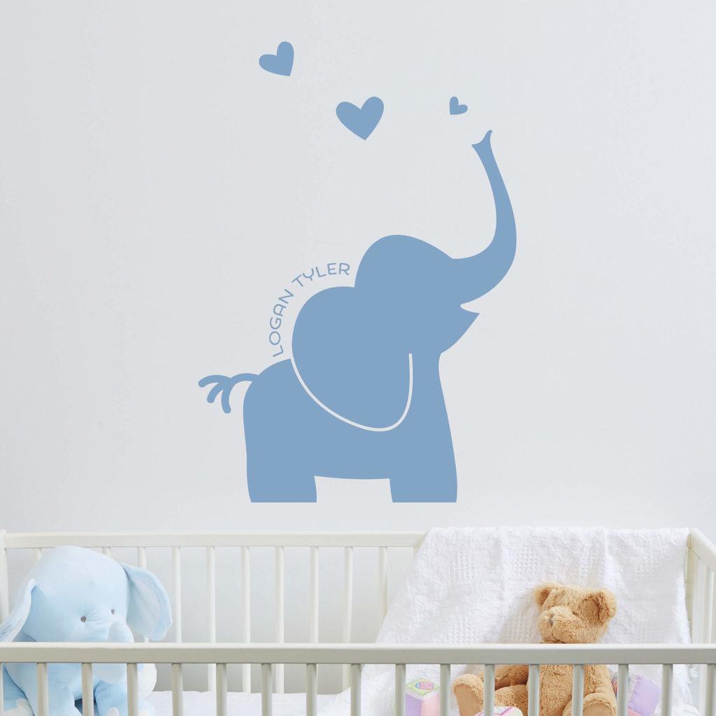 Elephant Nursery Decor - Wall Decal