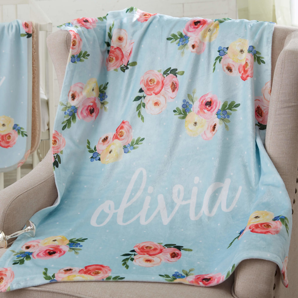 Floral Nursery Decor - Baby Blanket