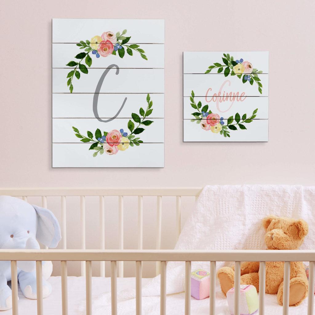 Floral Nursery Decor - Wall Art
