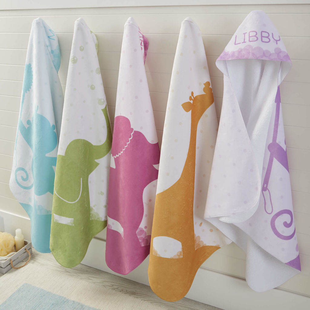 Jungle Animal Nursery Decor - Hooded Baby Towels