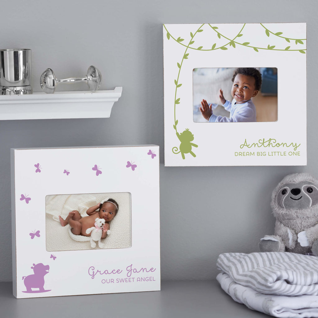 Jungle Animal Nursery Decor - Baby Picture Frame