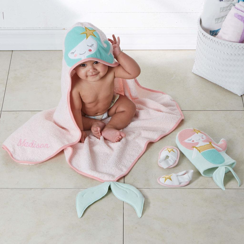 Mermaid Nursery Decor - Baby Bath Set