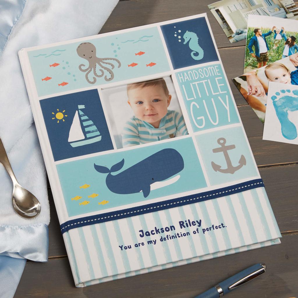 Nautical Nursery Decor - Baby Memory Book