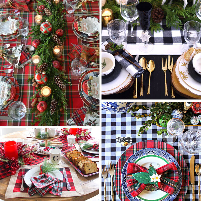 Plaid Christmas Table Ideas
