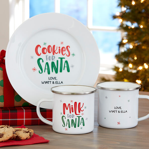 Cookies for Santa Plate & Milk for Santa Mug
