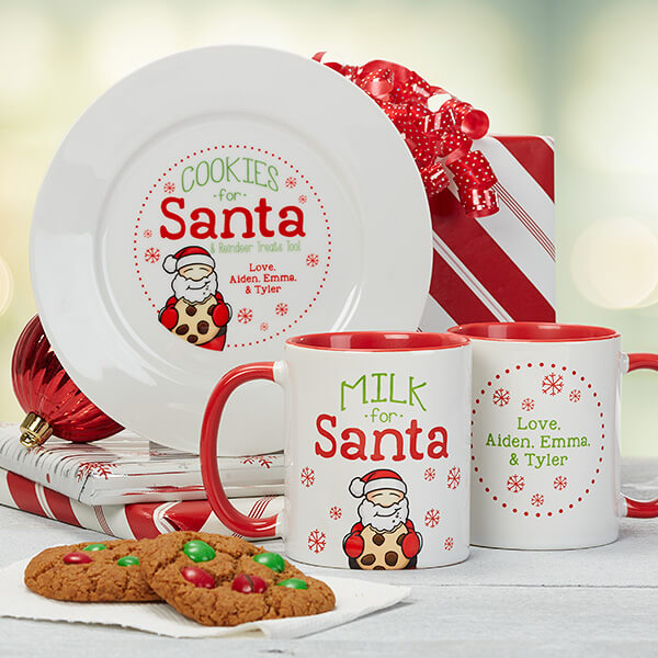 Cookies & Milk For Santa Mug & Plate