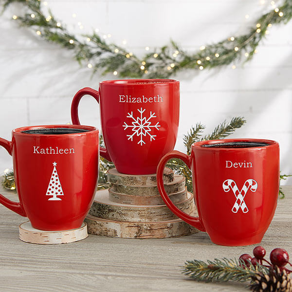 Custom Engraved Christmas Mugs