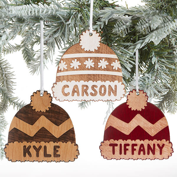 Personalized Kids Christmas Hat Ornaments