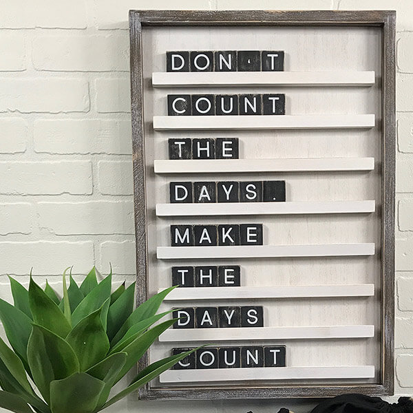 Daily Inspiration Letter Board