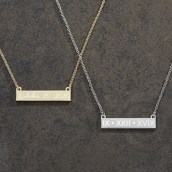 Special Date Nameplate Necklace