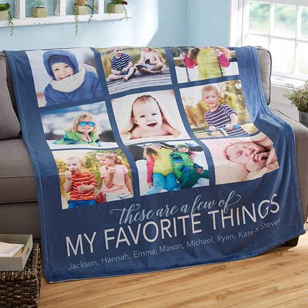 My Favorite Things Custom Photo Blanket