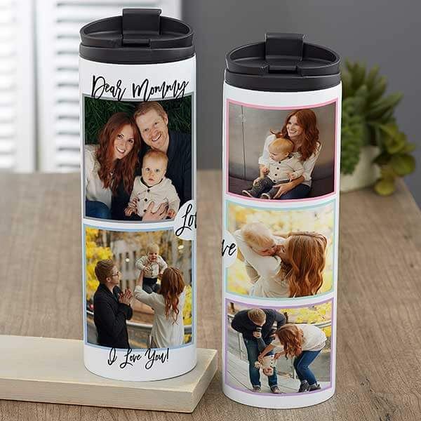 Love Photo Collage Travel Tumbler For Mom