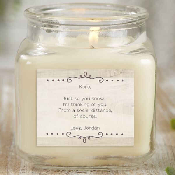 Thinking of Your Personalized Candle