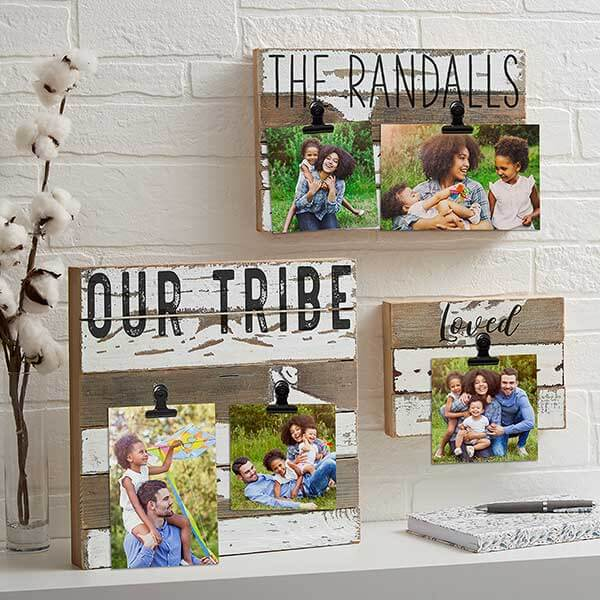 Rustic Wood Photo Clip Frame