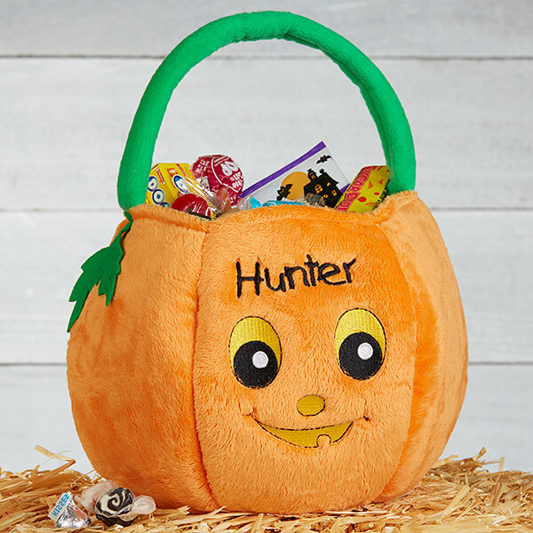 Personalized Pumpkin Treat Bag for Kids