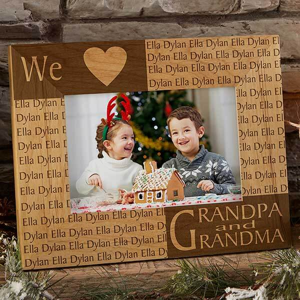Engraved Picture Frame for Grandparents