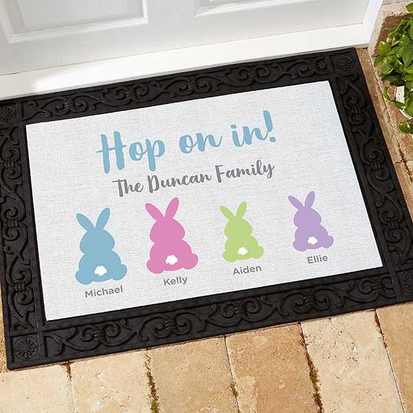 Personalized Easter Doormat
