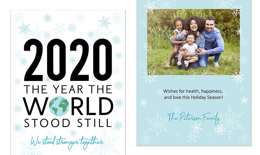 2020 The Year The World Stood Still Holiday Card