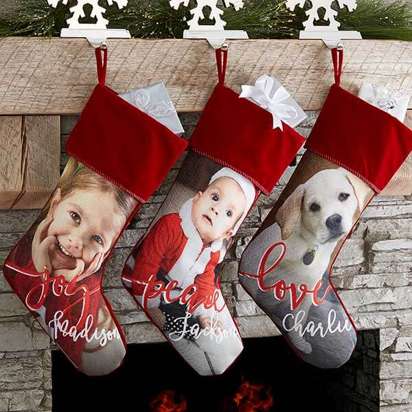Custom Photo Christmas Stockings