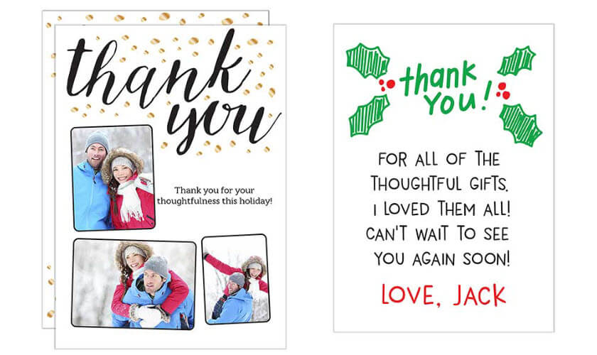 Thank You Holiday Cards