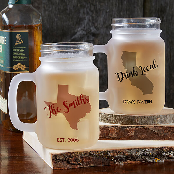 State Pride Personalized Drink Glasses
