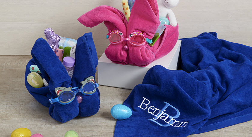 Beach Towel Easter Basket DIY