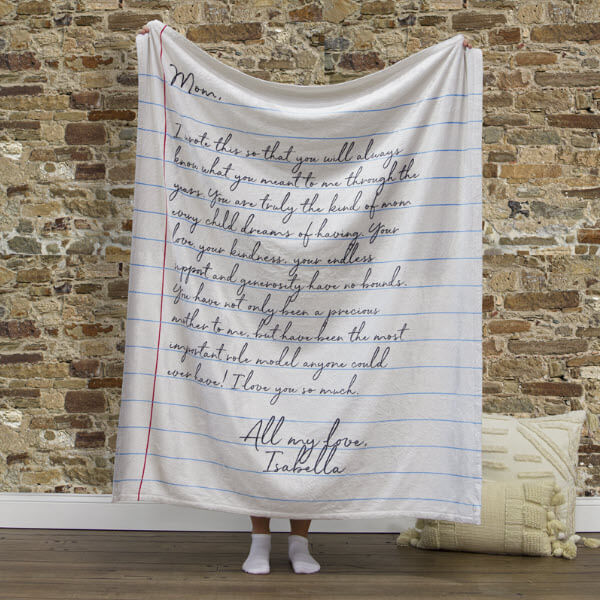 Best Epic Trends letter-to-mom-blanket 15 Last Minute Mother's Day Gifts For Every Budget