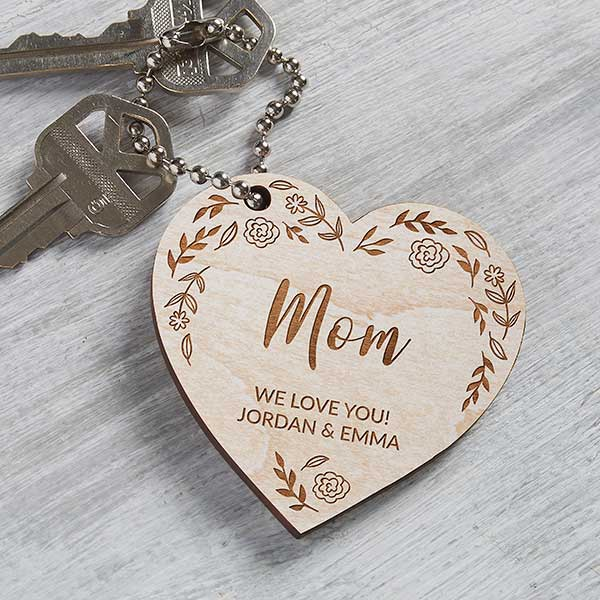 Best Epic Trends wooden-heart-engraved-keychain 15 Last Minute Mother's Day Gifts For Every Budget